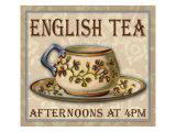 Englischer Tee Giclée-Druck von Kate Ward Thacker