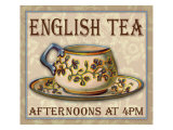 English Tea Giclee Print by Kate Ward Thacker