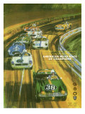Vintage Sports Car Road Race Poster Prints