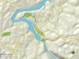 Political Map of Cheat Lake, WV Prints