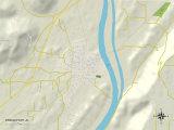 Political Map of Bridgeport, AL Prints
