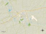 Political Map of Seguin, TX Photo