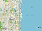Political Map of Palm Beach, FL Photo