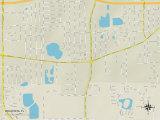 Political Map of Orlovista, FL Posters