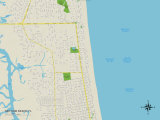 Political Map of Neptune Beach, FL Posters