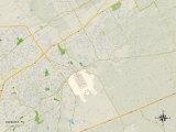 Political Map of Schertz, TX Prints