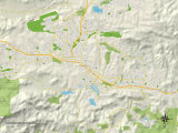 Political Map of Thousand Oaks, CA Photo