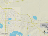 Political Map of Watertown, FL Prints