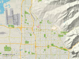 Political Map of Salt Lake City, UT Posters
