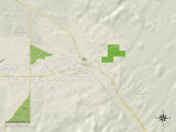 Political Map of Wickenburg, AZ Prints