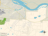 Political Map of Barling, AR Photo