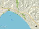Political Map of Rio Del Mar, CA Prints