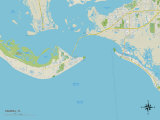 Political Map of Sanibel, FL Print