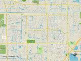 Political Map of North Lauderdale, FL Prints