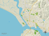 Political Map of Vallejo, CA Prints