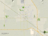Political Map of Casa Grande, AZ Prints