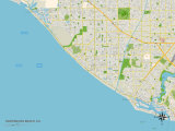 Carte politique de Huntington Beach, CA Affiches