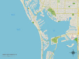 Political Map of Saint Pete Beach, FL Prints