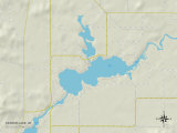 Political Map of Tainter Lake, WI Prints