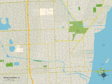 Political Map of Miami Shores, FL Posters