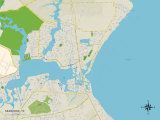 Political Map of Seabrook, TX Posters