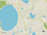 Political Map of Minneola, FL Print