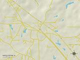 Political Map of Smiths Station, AL Prints