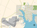 Political Map of Valparaiso, FL Print