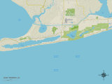 Politische Karte von Gulf Shores, Alabama Poster