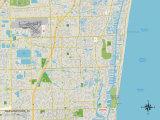 Political Map of Oakland Park, FL Prints