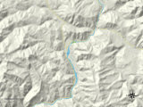 Political Map of Hoback, WY Photo