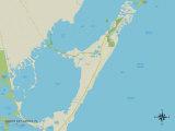 Political Map of North Key Largo, FL Photo