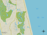 Political Map of Sawgrass, FL Prints