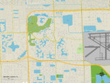 Political Map of Miami Lakes, FL Print