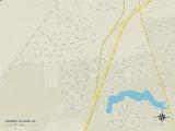 Political Map of Rodney Village, DE Posters