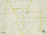 Political Map of Perry, FL Photo