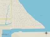 Political Map of Shoreacres, TX Prints