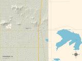 Political Map of Rosamond, CA Prints