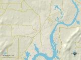 Political Map of Wilsonville, AL Prints