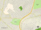 Political Map of Rollingwood, CA Prints