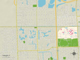 Political Map of Tamiami, FL Posters