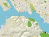 Political Map of Crockett, CA Prints