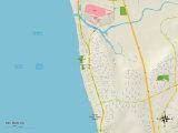 Political Map of Del Mar, CA Prints