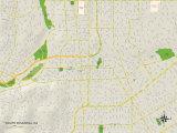 Political Map of South Pasadena, CA Print