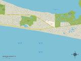 Political Map of Miramar Beach, FL Posters
