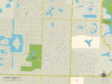 Political Map of Schall Circle, FL Photo
