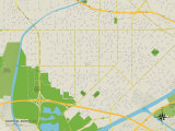 Political Map of South El Monte, CA Prints
