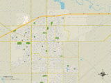 Political Map of Tracy, CA Prints