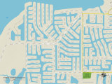 Political Map of Punta Gorda Isles, FL Prints