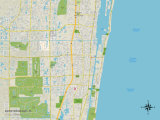Political Map of Boynton Beach, FL Print